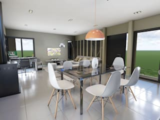 Estar - Comedor : Comedores de estilo minimalista por mgt_Estudio de  Arquitectura + Diseño