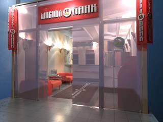 """Оперативный офис """"Мособлбанк"""" в аэропорту Сочи от A&D studio"""
