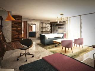 Diseño residencial en triplex de Fernando Borda Arquitectura de Interiores