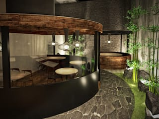 Terraza / patio:  de estilo  por Fernando Borda Arquitectura de Interiores