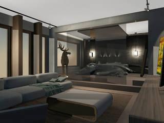 Living y Dormitorio Abierto: Dormitorios de estilo moderno por CB Luxus Inmobilien