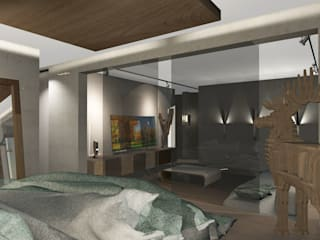 Dormitorio Abierto y Living: Livings de estilo moderno por CB Luxus Inmobilien