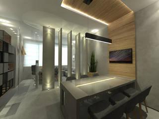 Estudios y oficinas modernos de Pina Linhares Arquitetura Moderno
