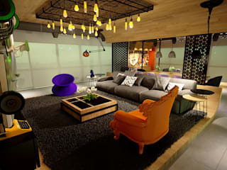 Projeto Sala Apartamento Ipanema: Salas de estar  por Gelker Ribeiro Arquitetura | Arquiteto Rio de Janeiro,Industrial