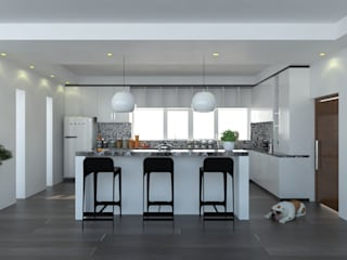 Cocina integral: Cocinas equipadas de estilo  por Imagen + Diseño + Arquitectura