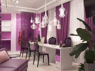 Дизайн-проект для сети салонов красоты Рабочий кабинет в эклектичном стиле от design4y Эклектичный