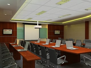 Office Meeting Room:  Gedung perkantoran by Cendana Living