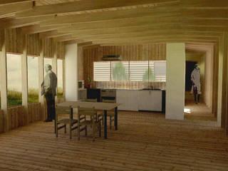 Casa de campo, Cumpeo.: Comedores de estilo  por Viga Arqutiectos