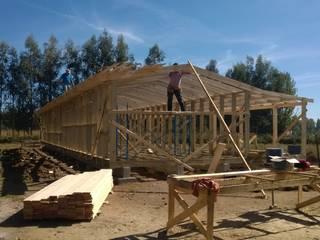 Casa de campo, Cumpeo.:  de estilo  por Viga Arqutiectos