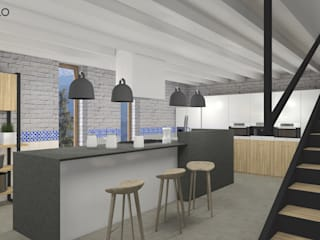 北欧デザインの キッチン の MODULO Pracownia architektury wnętrz 北欧
