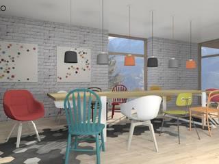 北欧デザインの ダイニング の MODULO Pracownia architektury wnętrz 北欧