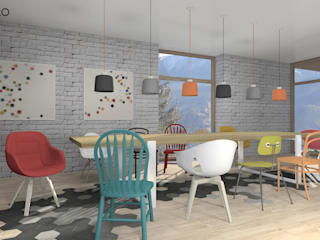 Comedores de estilo  por MODULO Pracownia architektury wnętrz