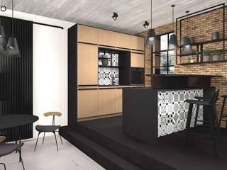 Cocinas de estilo industrial de MODULO Pracownia architektury wnętrz Industrial