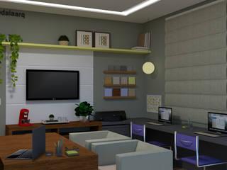 Projeto Escritório de Arquitetura: Escritórios  por Raquel Abdala - Arquitetura e Interiores
