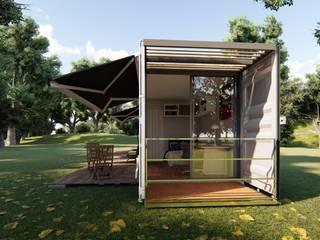 Casa Container de 40 PÉS Locares Casa Container e Projetos Customizados Corredores, halls e escadas modernos Ferro/Aço