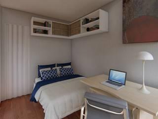 Dormitorios de estilo moderno de Locares Casa Container e Projetos Customizados Moderno Madera Acabado en madera