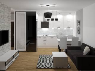 Cocinas modernas de 3D Interior Studio Projektowania Wnętrz Moderno