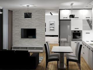 Salas modernas de 3D Interior Studio Projektowania Wnętrz Moderno