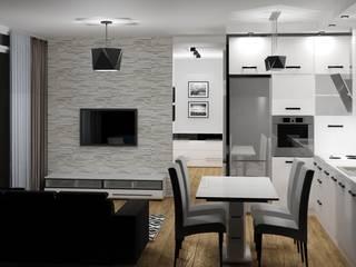 Salas de estilo moderno de 3D Interior Studio Projektowania Wnętrz Moderno