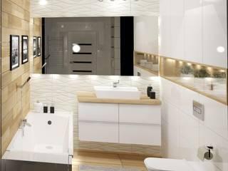 Baños de estilo moderno de 3D Interior Studio Projektowania Wnętrz Moderno