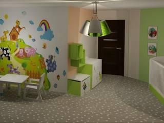 Cuartos infantiles de estilo moderno de 3D Interior Studio Projektowania Wnętrz Moderno