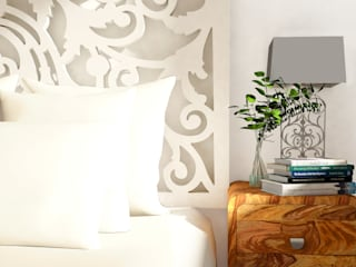 Acogedor y transformable dormitorio para Airbnb en Cádiz: Dormitorios de estilo  de Aditum Studio