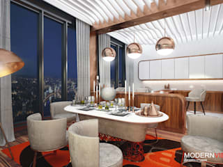 Пресненская набережная Кухня в стиле модерн от Дизайн - студия MODERN VIEW Модерн