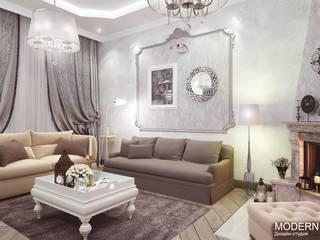 Абхазия: Гостиная в . Автор – Дизайн - студия  MODERN VIEW