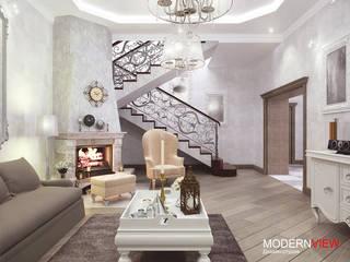 Абхазия Гостиная в стиле модерн от Дизайн - студия MODERN VIEW Модерн