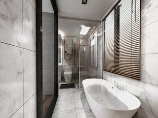 คุณเฉลียง - ออกแบบตกแต่งภายใน Modern bathroom