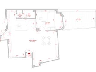 Planta de estado previo: Estudios y despachos de estilo  de Atelier SIBA