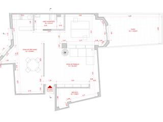 Planta de estado reformado: Estudios y despachos de estilo  de Atelier SIBA