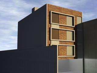 Fachada Posterior: Condominios de estilo  por mova