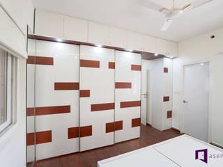 Subhra and Bharta's apartment in MJR Pearl,Kadugudi,Bangalore Modern style bedroom by Asense Modern