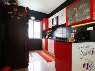 Ajay & Yogita's apartment in Sobha dream Acres,Varthur,Bangalore Minimalist kitchen by Asense Minimalist
