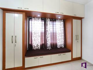 Ajay & Yogita's apartment in Sobha dream Acres,Varthur,Bangalore Minimalist bedroom by Asense Minimalist