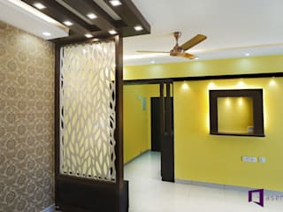 Parul & Gourav's apartment in Sumadhura Shikharam,Whitefield,Bangalore:  Living room by Asense