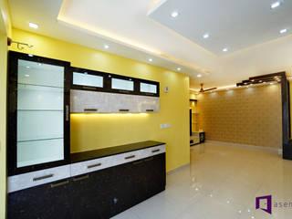 Parul & Gourav's apartment in Sumadhura Shikharam,Whitefield,Bangalore Modern living room by Asense Modern
