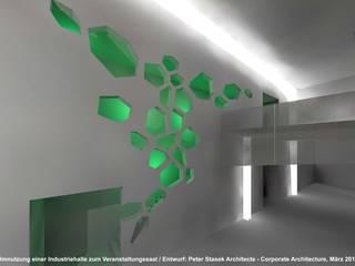 Umnutzung einer Industriehalle zum Proberaumkomplex NOX - Kaya Areal Mannheim Industriale Veranstaltungsorte von Peter Stasek Architects - Corporate Architecture Industrial