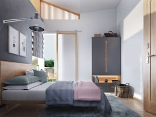 Scandinavian style bedroom by Studio Gritt Scandinavian