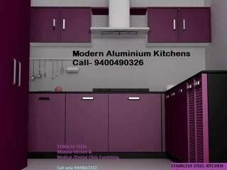 Aluminium kitchen in bangalore:   by VENEZIA Kitchens & Home INTERORS