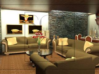 Sala y Comedor: Salas / recibidores de estilo  por Scale Interior Design,