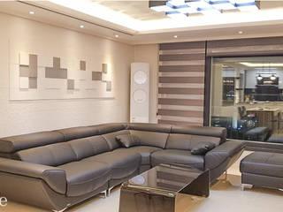 Salones modernos de 인테리1 Moderno