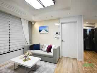부산 분양 모델하우스 세팅, 클래식 스타일 - 노마드디자인: 노마드디자인 / Nomad design의  거실