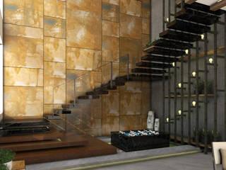 staircase landscape foyer :   by URBAIN DEZIN STUDIO