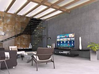 lounge area:   by URBAIN DEZIN STUDIO