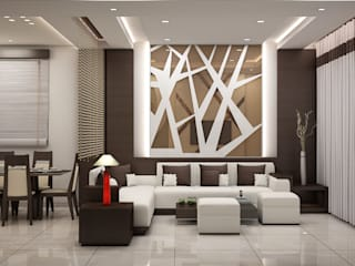Interior:  Living room by DV Interiors
