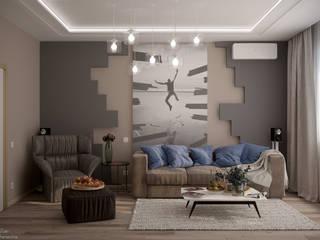 Minimalistische Wohnzimmer von Студия интерьерного дизайна happy.design Minimalistisch