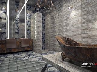 Цветной Бульвар: Ванные комнаты в . Автор – Дизайн - студия  Modern View,