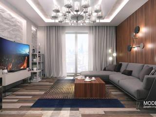 Апартаменты Маяковская 78м2: Гостиная в . Автор – Дизайн - студия  Modern View,